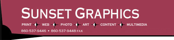 Sunset Graphics: print, website design, photography, content, art, multimedia